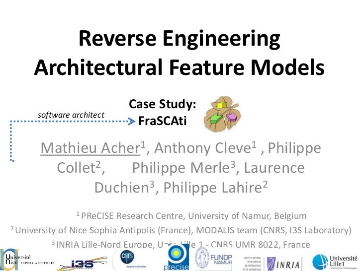 Reverse Engineering     Architectural Feature Models                            Case Study:      software architect       ...