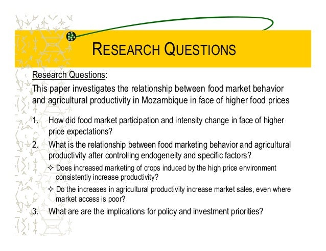 research paper on agricultural marketing Topics available for thesis research in agricultural economics purdue university 2017-18 risk analysis for agricultural market and insurance.