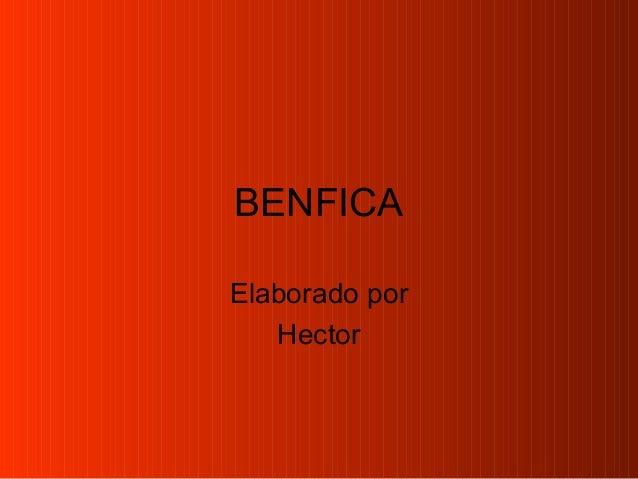 BENFICAElaborado porHector
