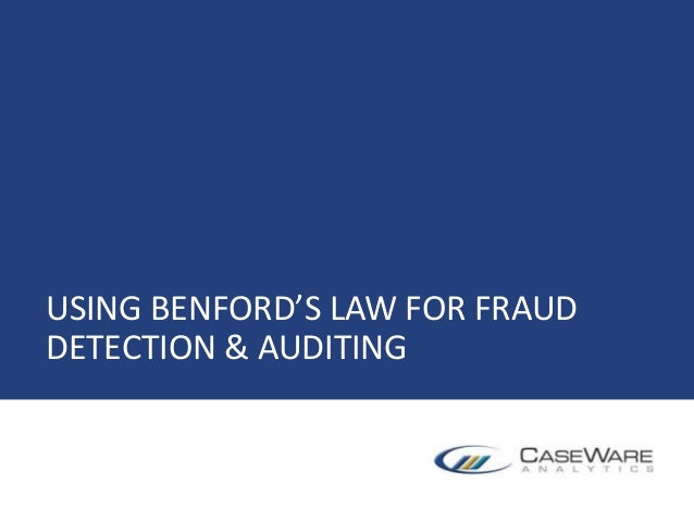 USING BENFORD'S LAW FOR FRAUD DETECTION & AUDITING