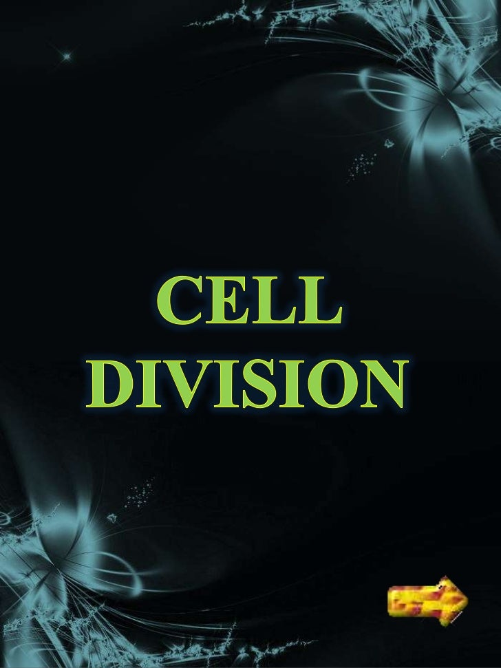 Cell division is theprocess by which aparent cell divides intotwo or more daughtercells.Cell division is usually asmall se...