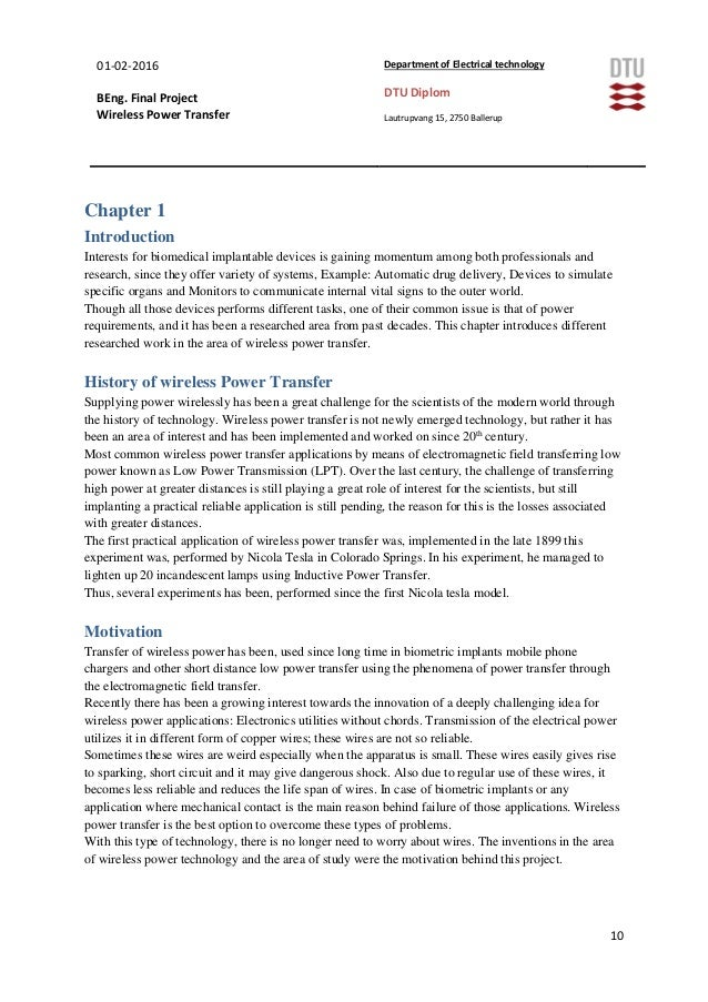 thesis on wireless power transfer Master thesis metal object detection for safe wireless power transfer the  company blue inductive develops wireless battery chargers for mobile robots and .