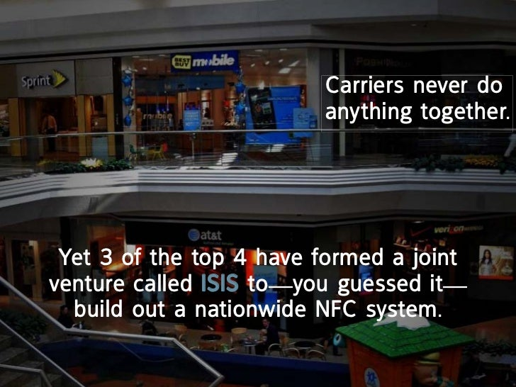 carriers never do                         anything together. yet 3 of the top 4 have formed a jointventure called iSiS to—...