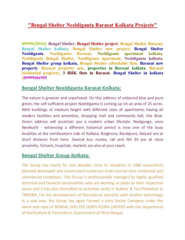 """Bengal Shelter Neeldiganta Barasat Kolkata Projects""09999620966|| Bengal Shelter, Bengal Shelter project, Bengal Shelter ..."