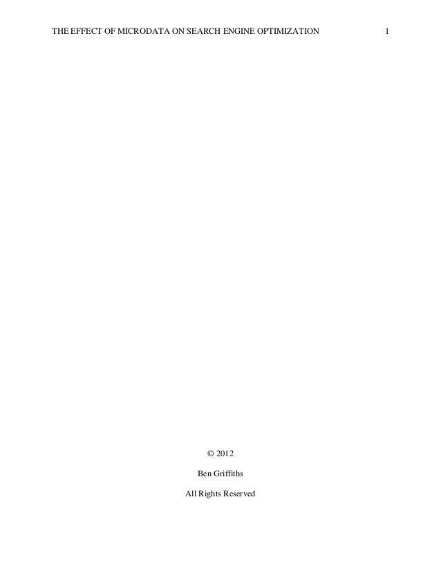 Dissertation search engine optimization