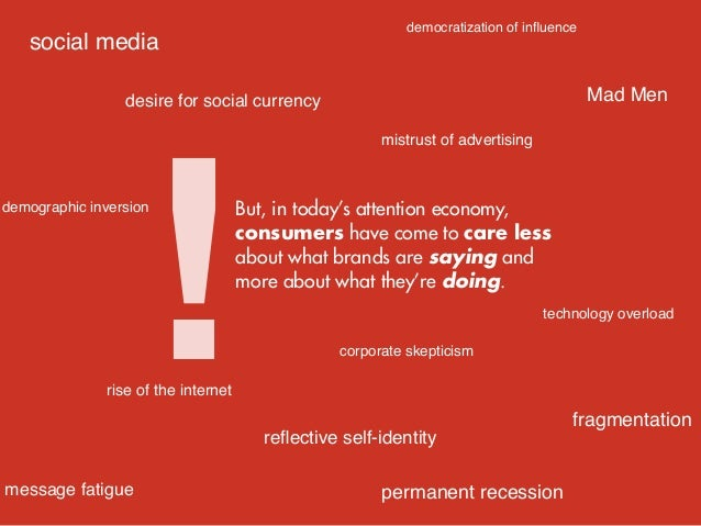 Which is why we see brands today as more a function of how they act ... how they engage with and around consumers ... as v...
