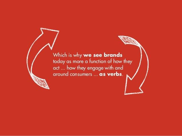 Brands  as verbs