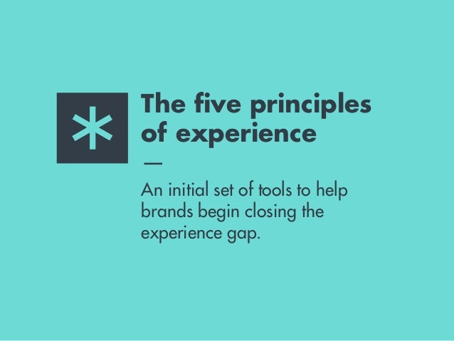 PRINCIPLE 1 ADD VALUE Brands that last are the ones that give more than they take from consumers' lives. In a world filled ...
