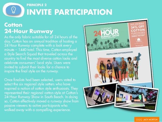 PRINCIPLE 2 INVITE PARTICIPATION Pop Secret's Pop Dongle Some brands are so simple that in order to invite participation a...