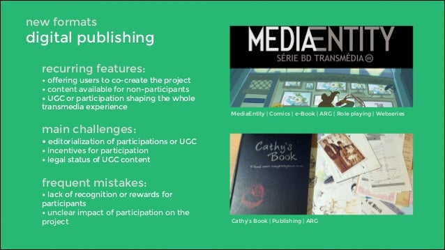 new formats  digital publishing  recurring features:  • offering users to co-create the project  • content available for n...