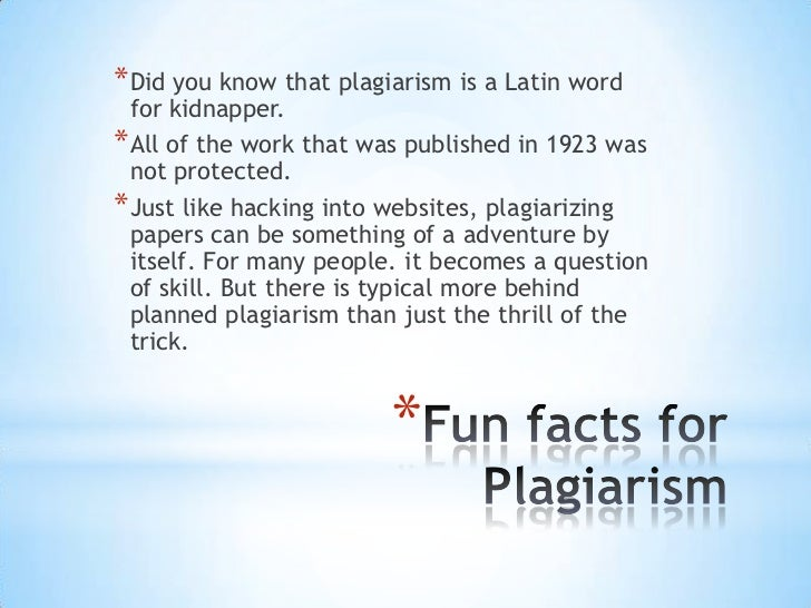 interesting facts about plagiarism