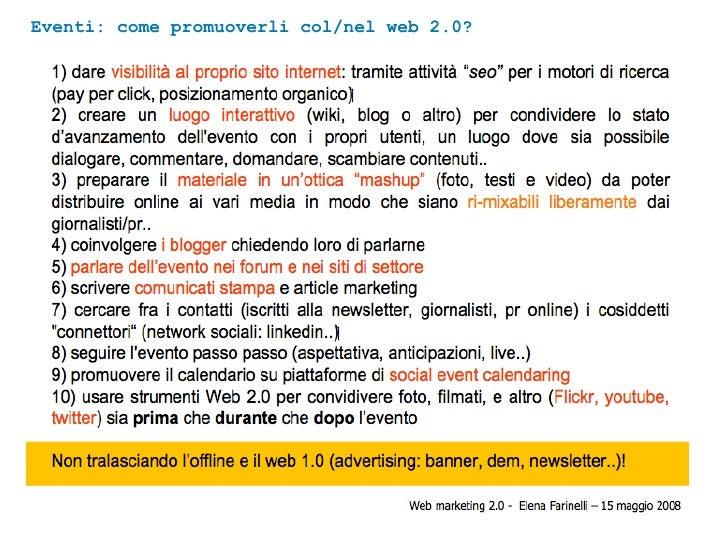 Eventi: come promuoverli col/nel web 2.0?