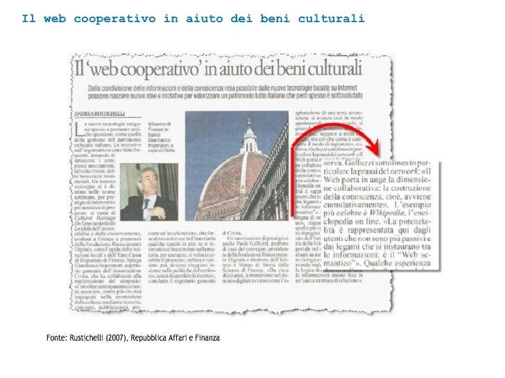 Il web cooperativo in aiuto dei beni culturali