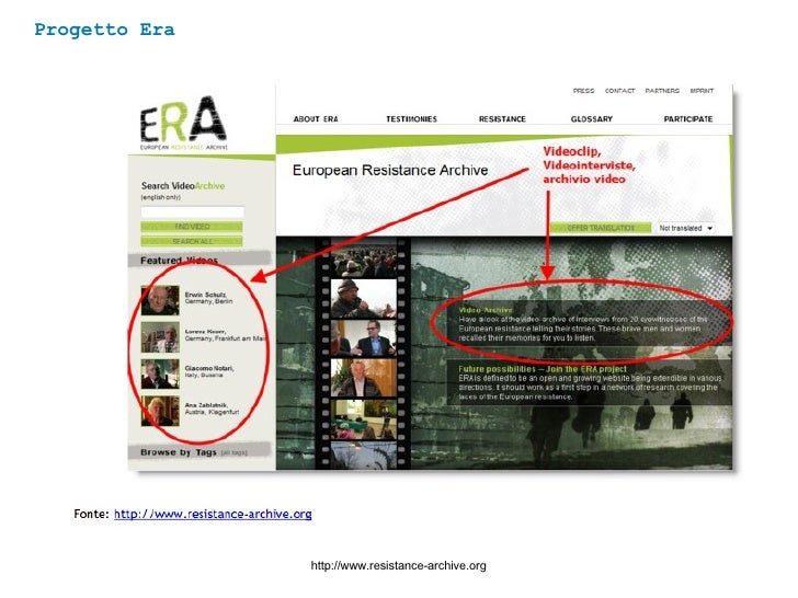 Progetto Era http://www.resistance-archive.org