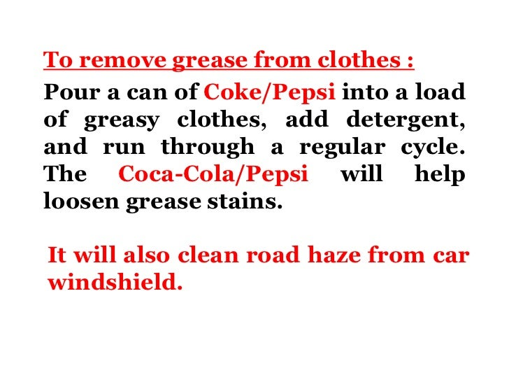 Benifits of : Coke and Pepsi
