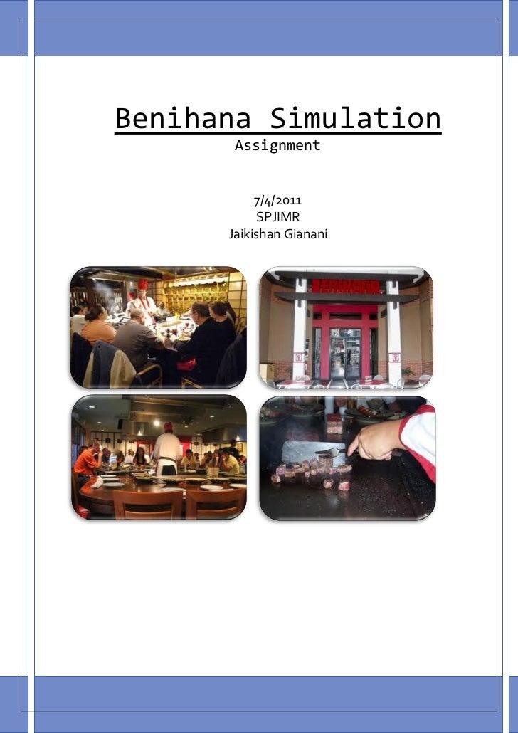 benihana case Operations management case study report case: benihana of tokyo prepared by: under the guidance of: dhruv gupta 13dm066 prof akdey gunjan kalita 13dm075 jigyasa gautam 13dm086 kishlay saurabh 13dm092 naveen malik 13dm112 navpreet singh sachdeva 13dm113 contents page no activity.