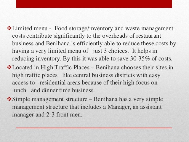 Benihana of Tokyo Case Solution and Analysis, HBS Case ...