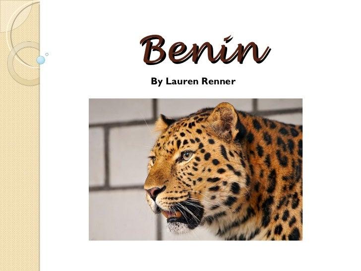 Benin By Lauren Renner