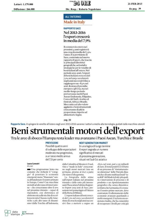 Lettori: 1.179.000                                     21-FEB-2013Diffusione: 266.088   Dir. Resp.: Roberto Napoletano    ...