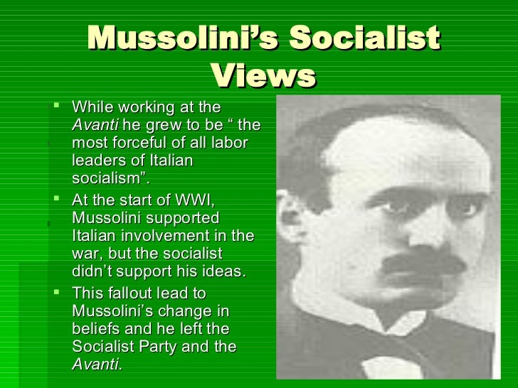 a look at benito mussolini and his foundation of italian fascism Introduction to benito mussolini history of italy to look for a leader to guide their that mussolini was one of the founders of italian fascism.