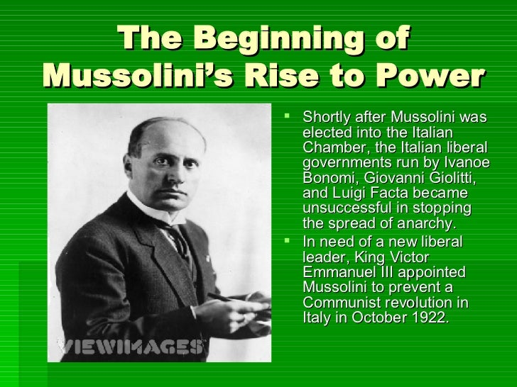 mussolini rise to power essay example
