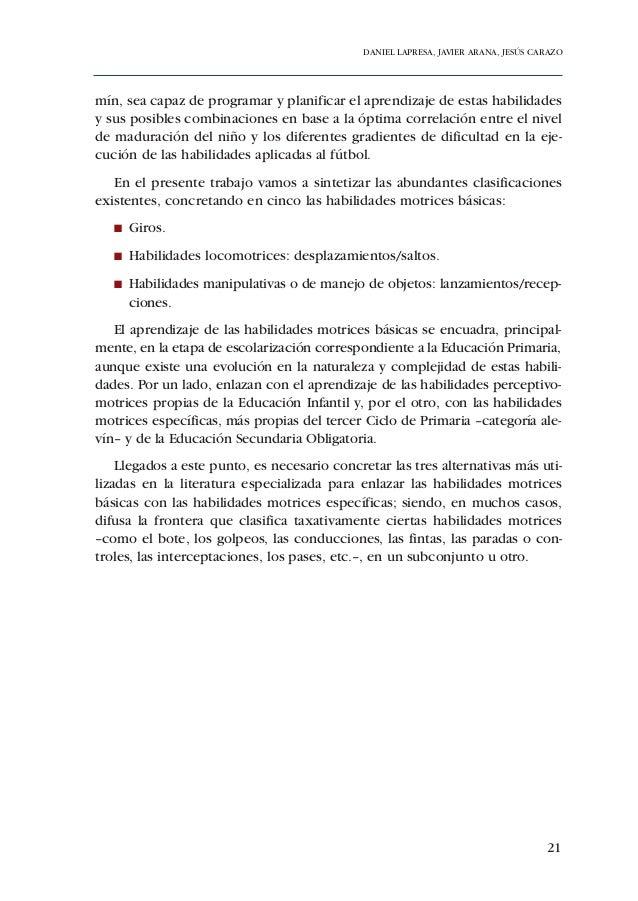 ADECUACIÓN DE CONTENIDOS AL DESARROLLO PSICOMOTOR DE PREBENJAMINES Y BENJAMINES  En relación con la percepción del no yo o...