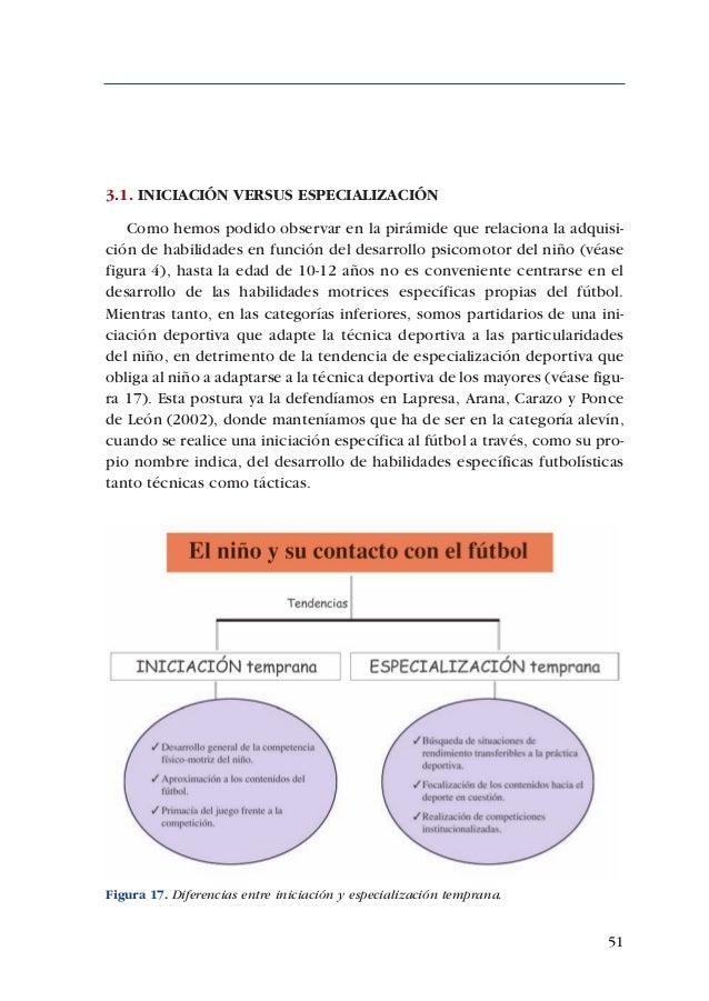 ADECUACIÓN DE CONTENIDOS AL DESARROLLO PSICOMOTOR DE PREBENJAMINES Y BENJAMINES62