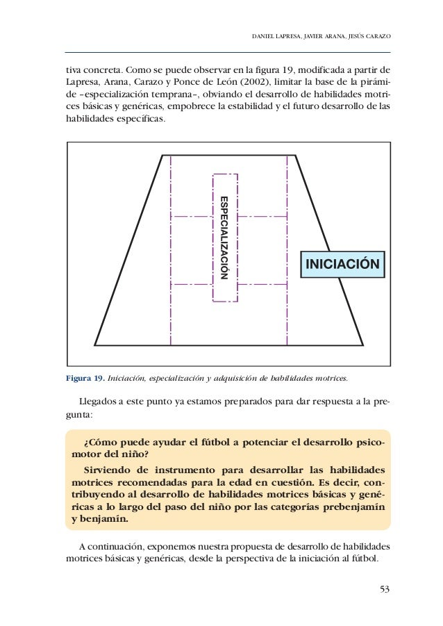 ADECUACIÓN DE CONTENIDOS AL DESARROLLO PSICOMOTOR DE PREBENJAMINES Y BENJAMINES64