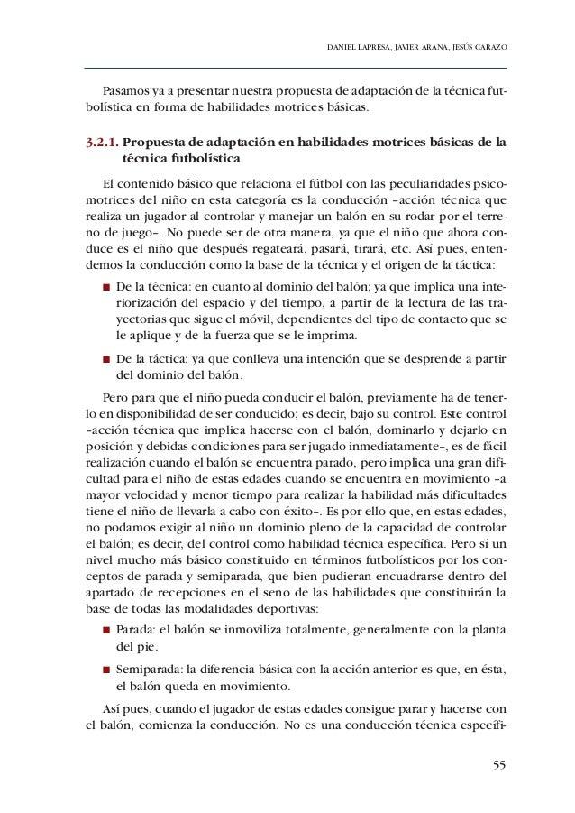 ADECUACIÓN DE CONTENIDOS AL DESARROLLO PSICOMOTOR DE PREBENJAMINES Y BENJAMINES66