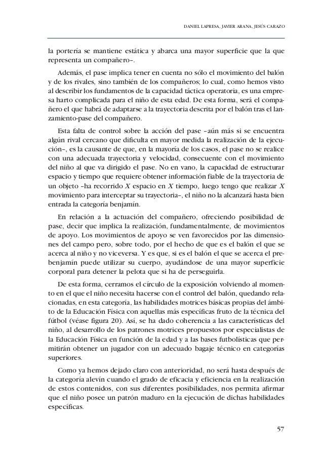 ADECUACIÓN DE CONTENIDOS AL DESARROLLO PSICOMOTOR DE PREBENJAMINES Y BENJAMINES68