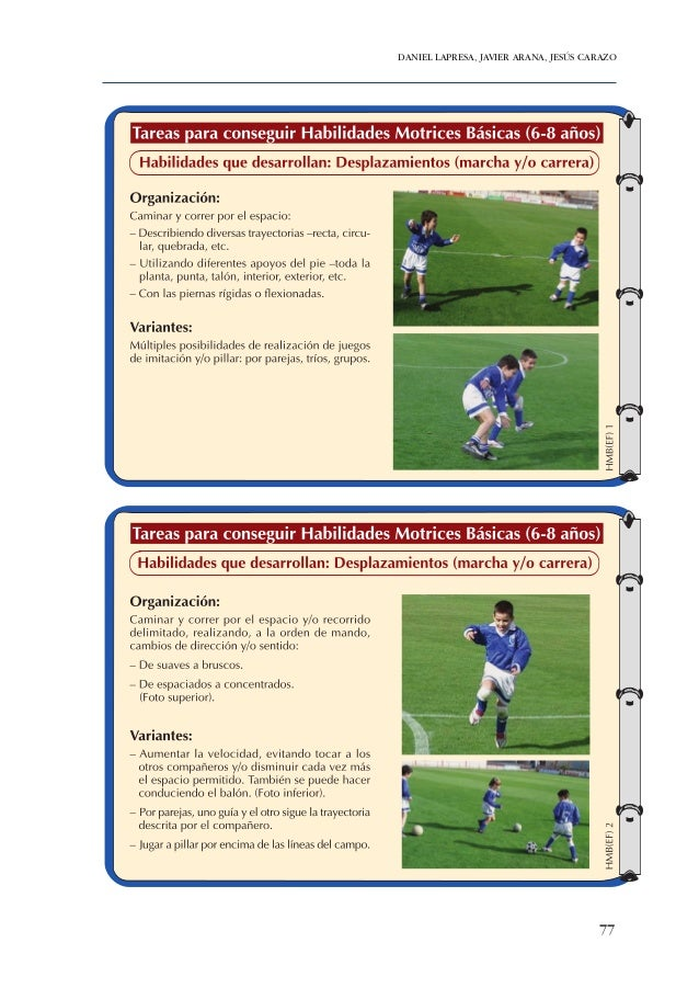 Figura 23. Resumen gráfico de las habilidades motrices básicas principalmente desarrolladas con el corpus de tareas presen...