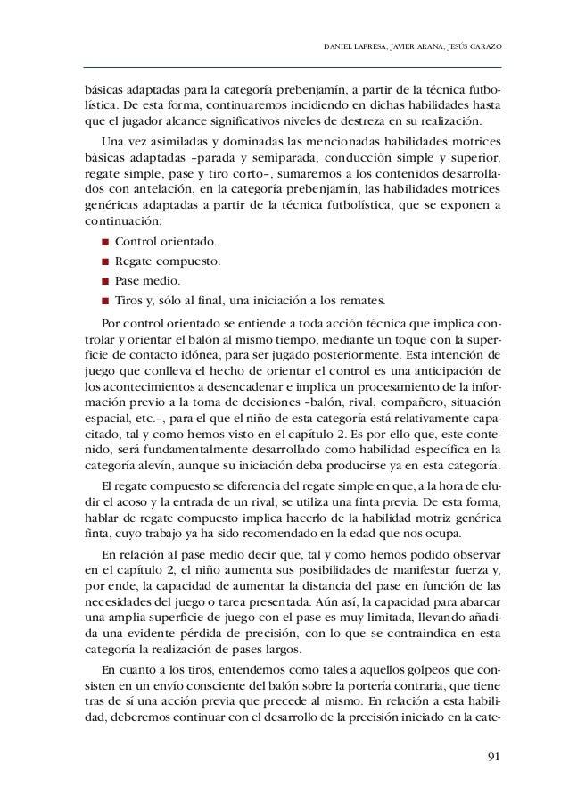 ADECUACIÓN DE CONTENIDOS AL DESARROLLO PSICOMOTOR DE PREBENJAMINES Y BENJAMINES104
