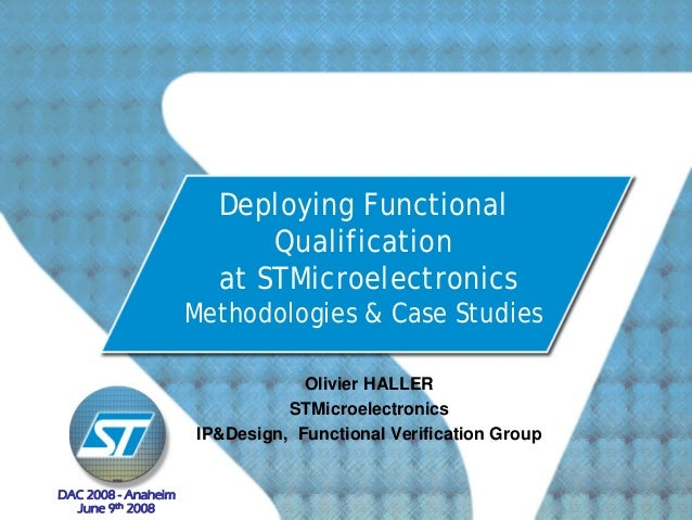 Deploying Functional                           Qualification                       at STMicroelectronics                  ...