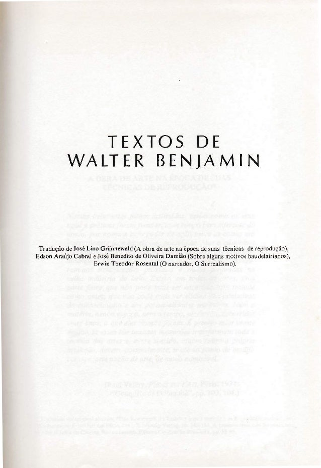 Benjamin, w. a obra de arte... 3a versao