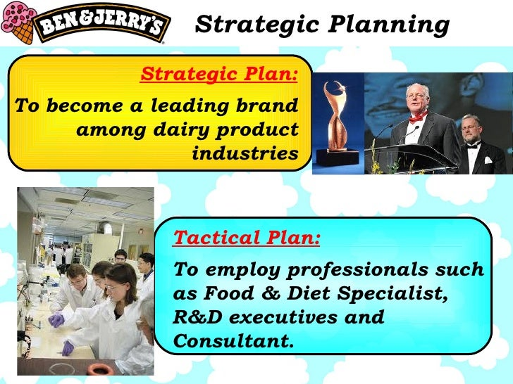 Strategic Planning Strategic Plan: To become a leading brand among dairy product industries Tactical Plan: To employ profe...