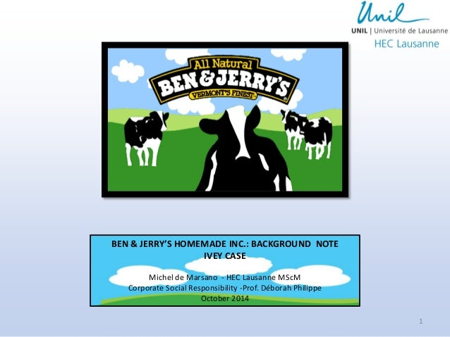 ben and jerrys homemade case study The state of vermont has been no stranger to paving the path for social justice in  america it is the first state to introduce civil unions and now holds the title as.