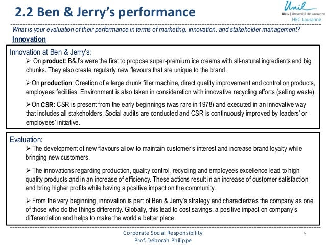 polyprod and ben jerrys case analysis Collection and analysis of date and distribution division of polyprod, p 241 6 case (paper/discussion): ben & jerry's (a.