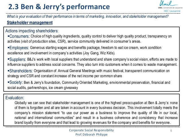 case study ben and jerrys Ben & jerry's case solution, ben & jerry's case solution payback period: the payback period is a major part of decision criteria to analyze the financial situation of the company a.