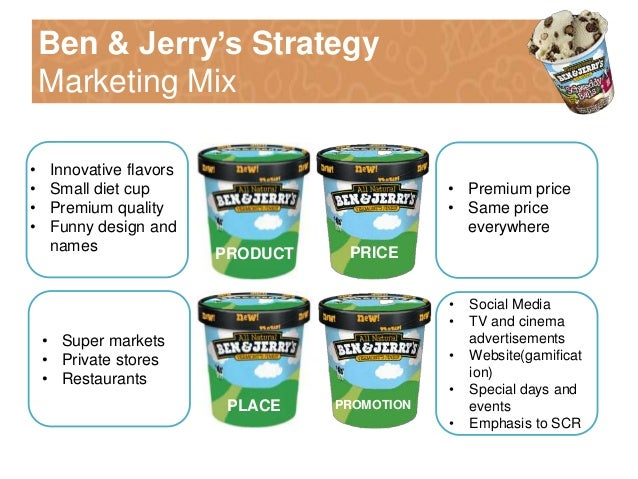business description of ben jerrys When ben cohen and jerry greenfield's vermont-based ice cream business,  ben & jerry's, started taking off, they decided that if they couldn't.