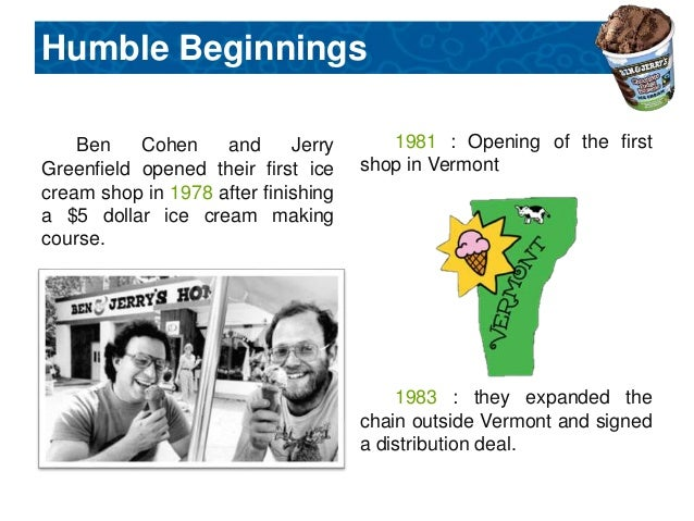the history of ben jerrys successful business venture Social venture network ben cohen - ben and jerry's amy domini - domini social investments svn has been identified as inspiration and catalyst for several other successful organizations in the business ethics and corporate social responsibility spheres.