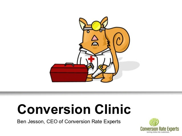 Conversion ClinicBen Jesson, CEO of Conversion Rate Experts