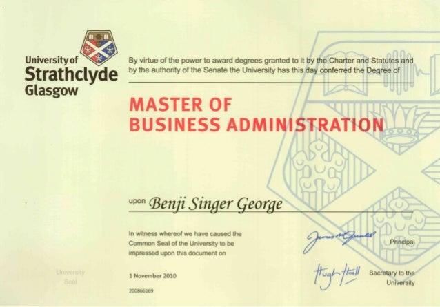 Benji Mba Sbs Uk Certificate