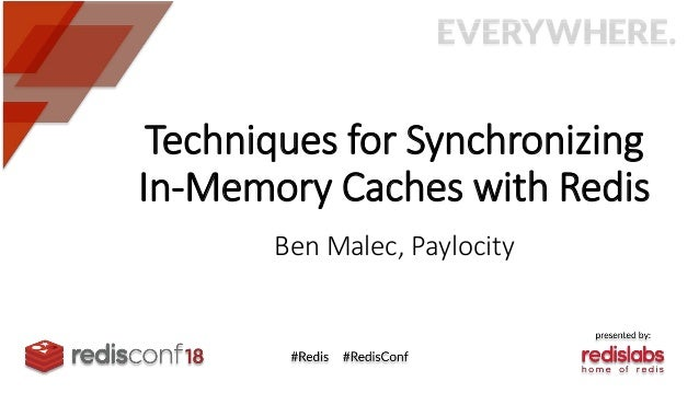 Techniques for Synchronizing In-Memory Caches with Redis Ben Malec, Paylocity