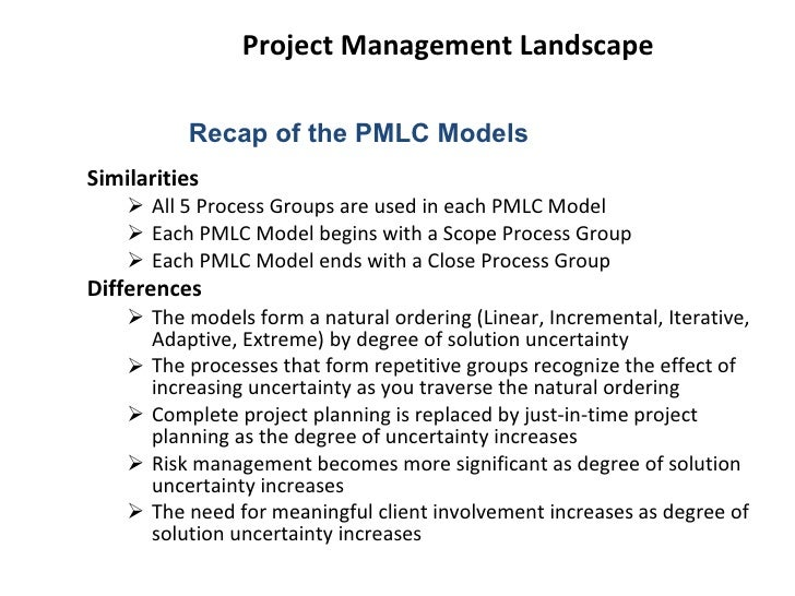 the five pmlc models Project management life cycle and project management methodology every  step in the project lifecycle is explained here, helping you complete projects more .