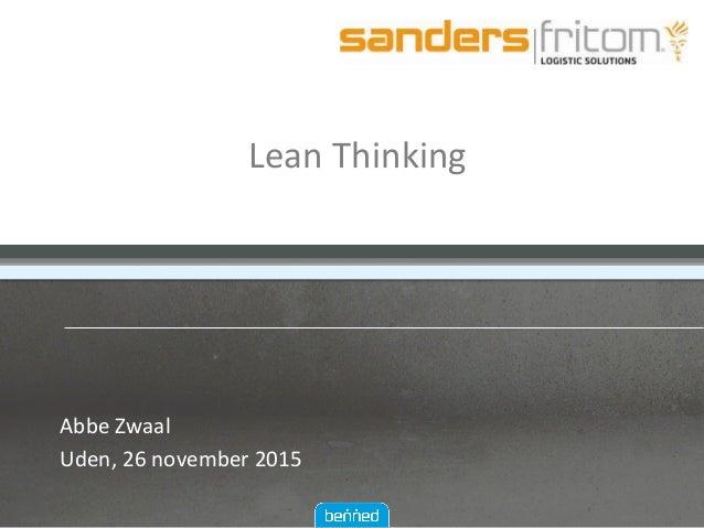 LeanThinking AbbeZwaal Uden,26november2015