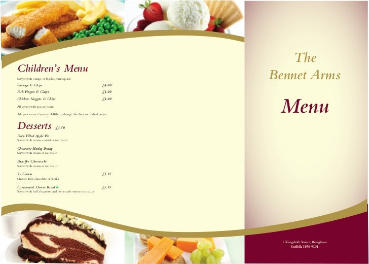 TheChildren's MenuServed with orange or blackcurrant squashSausage & Chips                                                ...