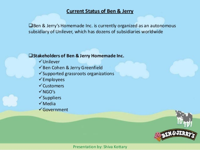 business description of ben jerrys Read business description of ben & jerrys free essay and over 88,000 other research documents business description of ben & jerrys executive summary ben and jerrys is a successful ice.