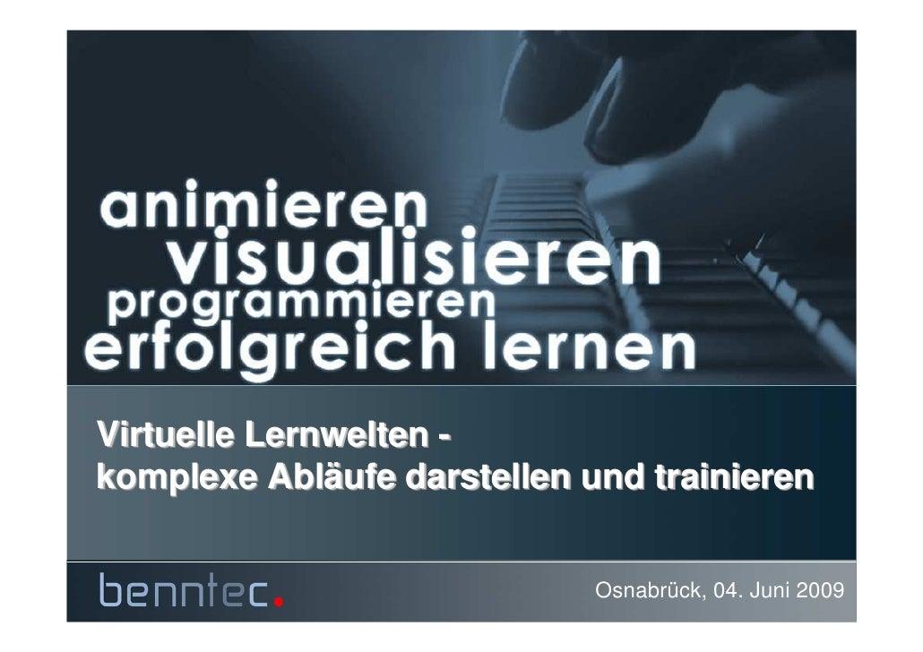 Virtuelle Lernwelten - komplexe Abläufe darstellen und trainieren            Abläufe                                Osnabr...
