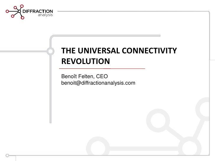 THE UNIVERSAL CONNECTIVITYREVOLUTIONBenoît Felten, CEObenoit@diffractionanalysis.com