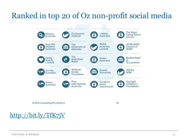 Adelaide social media forum - University of Adelaide Slide 3